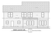 Architectural House Design - Classical Exterior - Rear Elevation Plan #20-2434