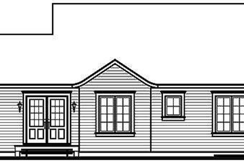 Cottage Exterior - Rear Elevation Plan #23-320 - Houseplans.com