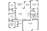 Ranch Style House Plan - 4 Beds 3 Baths 2374 Sq/Ft Plan #48-927 Floor Plan - Main Floor Plan