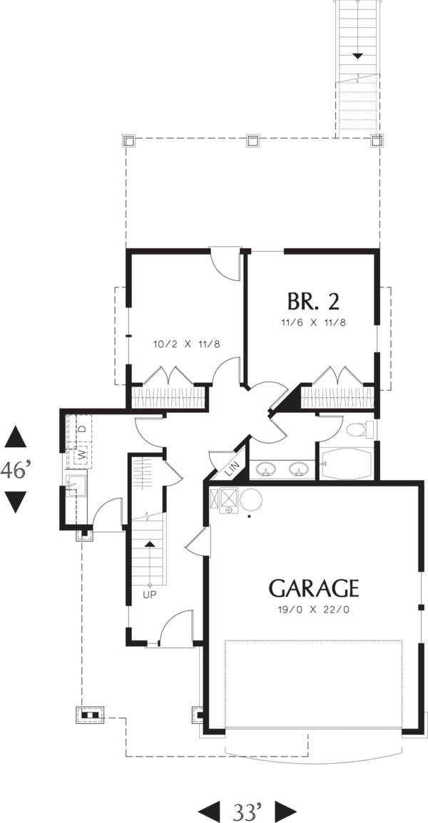 Craftsman Floor Plan - Main Floor Plan Plan #48-573