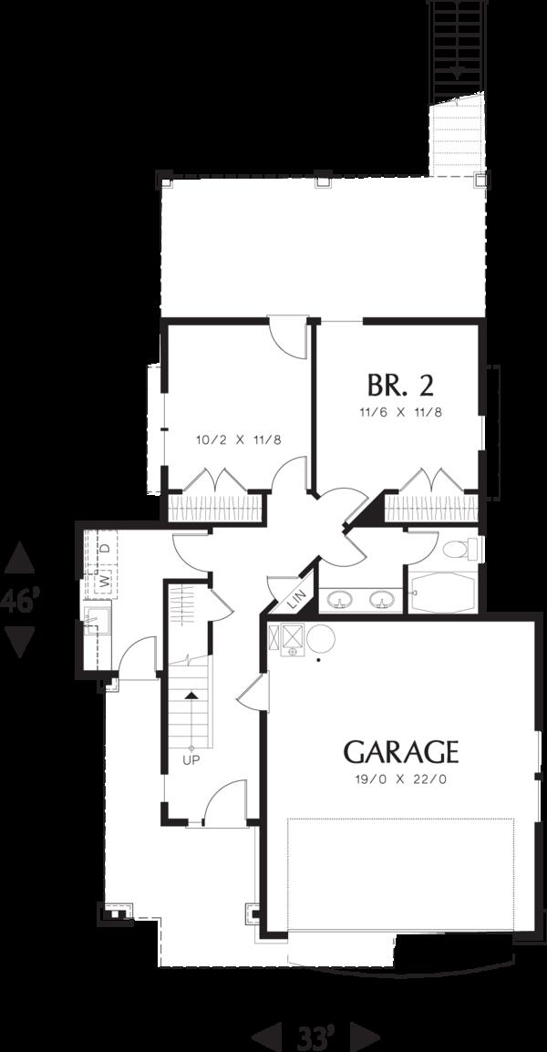 Craftsman Floor Plan - Main Floor Plan Plan #48-573