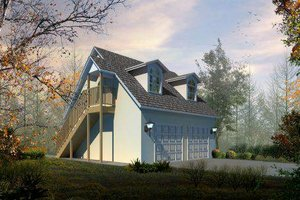 Country Exterior - Front Elevation Plan #1-101