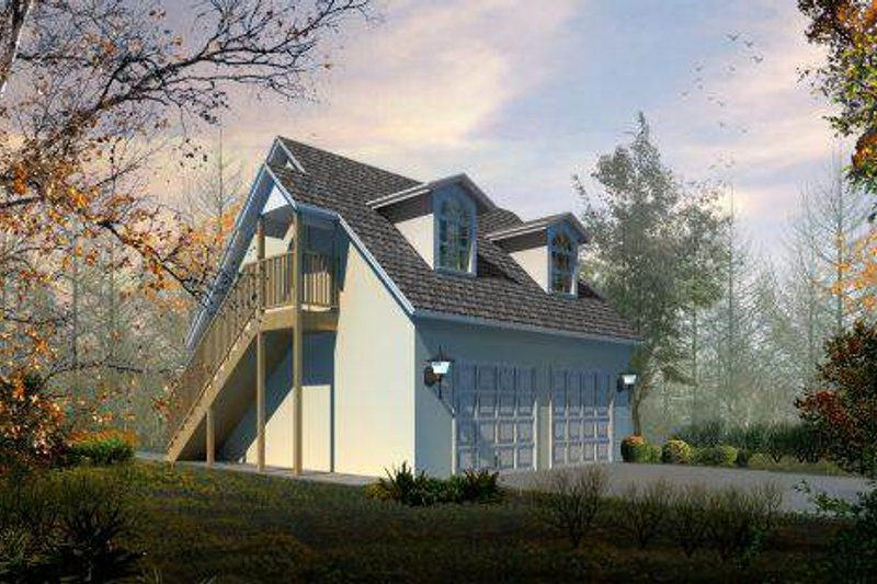 Country Style House Plan - 0 Beds 2 Baths 655 Sq/Ft Plan #1-101 Exterior - Front Elevation