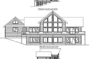 Modern Style House Plan - 2 Beds 2 Baths 2075 Sq/Ft Plan #117-135 Exterior - Rear Elevation