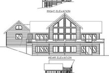 House Design - Modern Exterior - Rear Elevation Plan #117-135