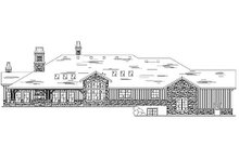 Home Plan - European Exterior - Rear Elevation Plan #5-429