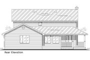 Country Style House Plan - 5 Beds 2.5 Baths 2388 Sq/Ft Plan #18-4460 Exterior - Rear Elevation