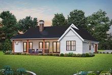 Dream House Plan - Farmhouse Exterior - Rear Elevation Plan #48-1034