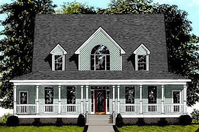 Farmhouse Exterior - Front Elevation Plan #56-175