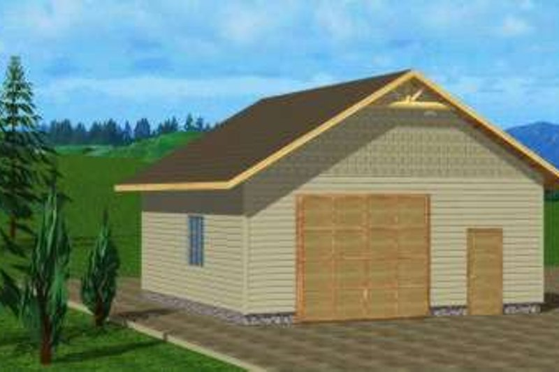 Traditional Exterior - Front Elevation Plan #117-474