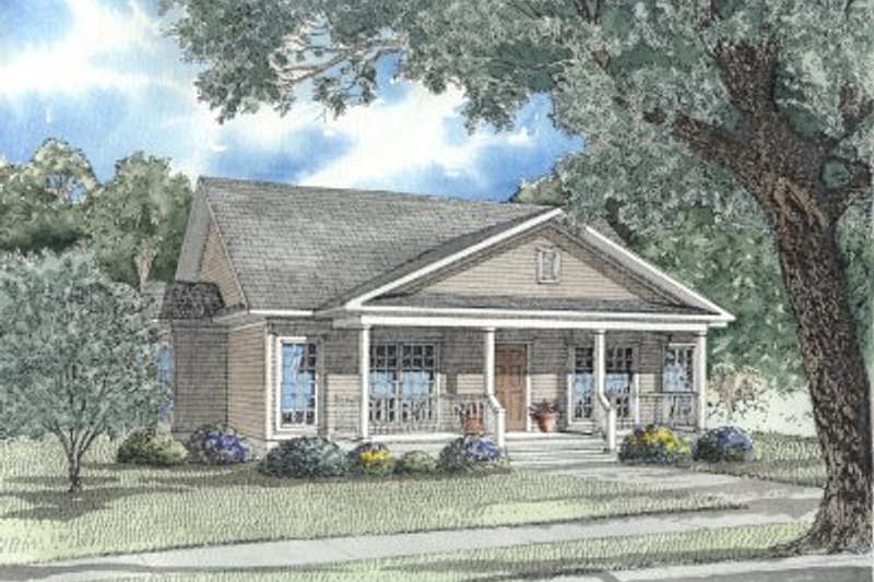 Architectural House Design - Traditional Exterior - Front Elevation Plan #17-1054