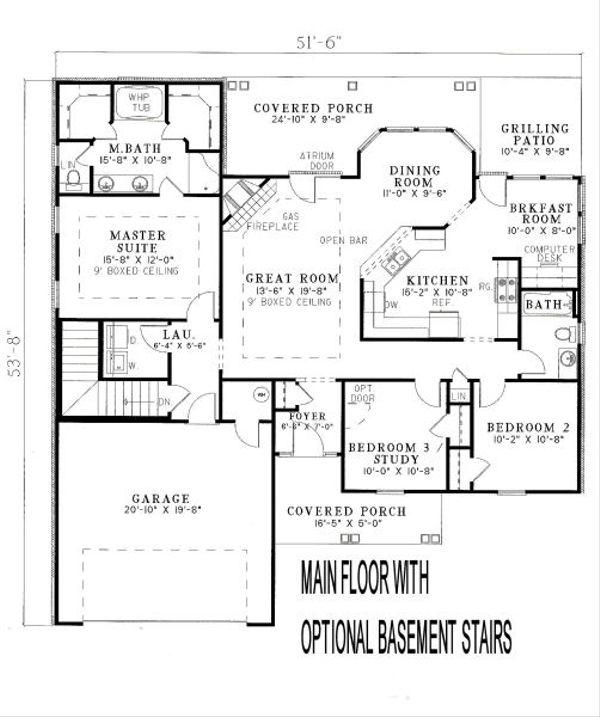 Traditional Floor Plan - Other Floor Plan Plan #17-116