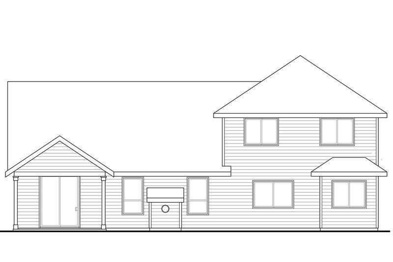Craftsman Exterior - Rear Elevation Plan #124-949 - Houseplans.com