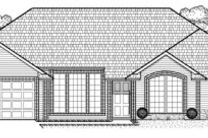 Ranch Exterior - Front Elevation Plan #65-356