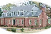 Colonial Style House Plan - 2 Beds 3.5 Baths 7422 Sq/Ft Plan #81-1359 Exterior - Front Elevation