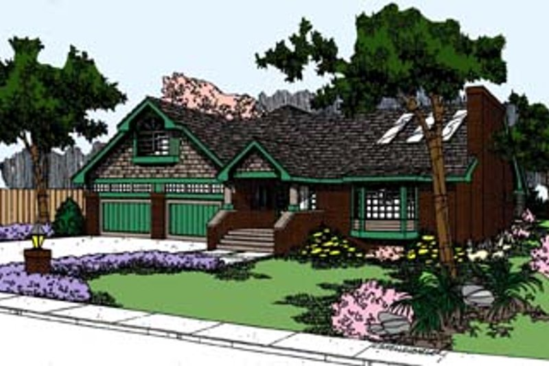 Traditional Exterior - Front Elevation Plan #60-532