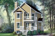 Traditional Style House Plan - 2 Beds 1.5 Baths 1080 Sq/Ft Plan #25-4201 Exterior - Front Elevation