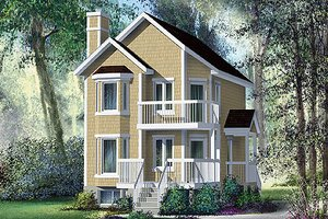 Traditional Exterior - Front Elevation Plan #25-4201