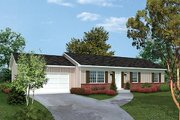 Ranch Style House Plan - 3 Beds 2 Baths 1288 Sq/Ft Plan #57-471 Exterior - Front Elevation