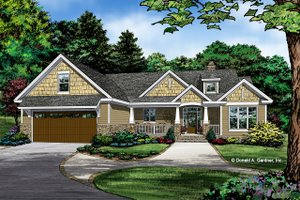 Craftsman Exterior - Front Elevation Plan #929-1038
