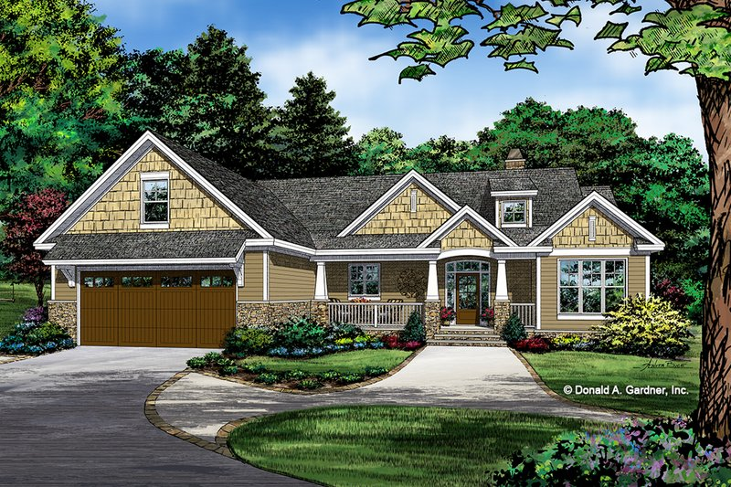 Craftsman Exterior - Front Elevation Plan #929-1038