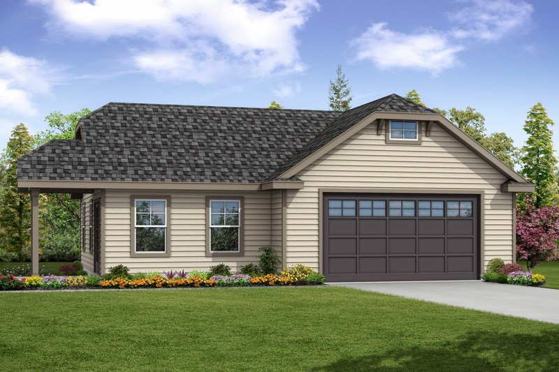Home Plan - Traditional Exterior - Front Elevation Plan #124-1051