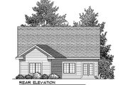Farmhouse Style House Plan - 2 Beds 2 Baths 1372 Sq/Ft Plan #70-897 Exterior - Rear Elevation