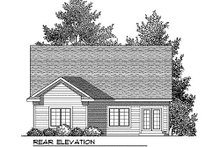 House Plan Design - Farmhouse Exterior - Rear Elevation Plan #70-897