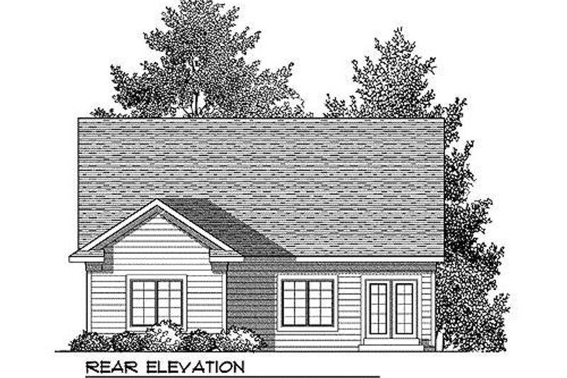 Farmhouse Exterior - Rear Elevation Plan #70-897 - Houseplans.com