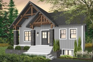 Modern Exterior - Front Elevation Plan #23-2677