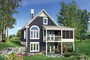 Country Style House Plan - 2 Beds 2 Baths 1015 Sq/Ft Plan #25-4310 Exterior - Rear Elevation