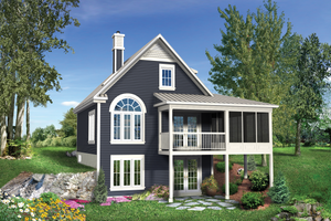 Country Exterior - Rear Elevation Plan #25-4310