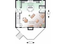 Contemporary Floor Plan - Main Floor Plan Plan #23-755