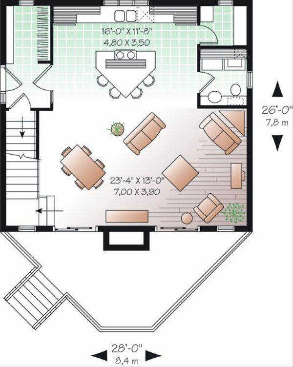 Home Plan - Contemporary Floor Plan - Main Floor Plan #23-755