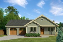 House Blueprint - Craftsman Exterior - Front Elevation Plan #497-45