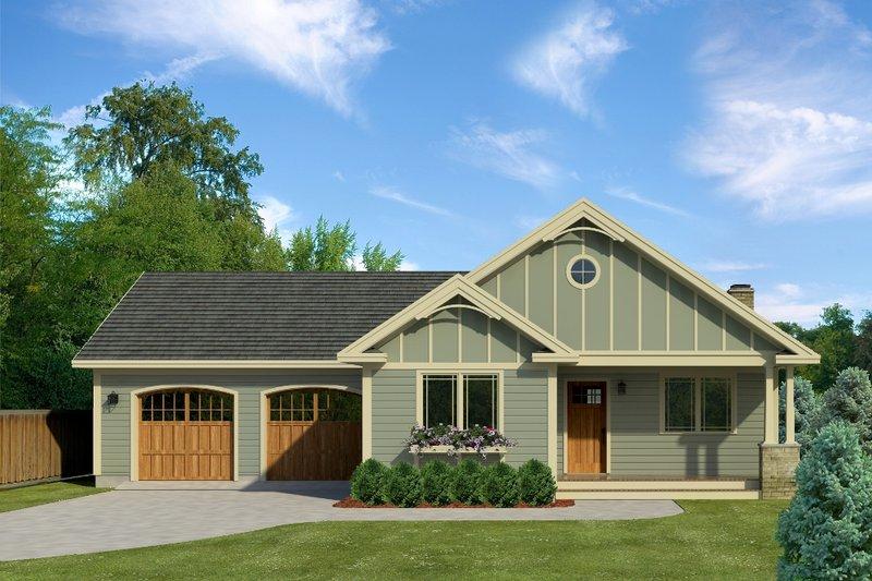 House Blueprint - Craftsman Exterior - Front Elevation Plan #497-45