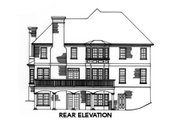 Tudor Style House Plan - 4 Beds 3.5 Baths 3355 Sq/Ft Plan #429-14 Exterior - Rear Elevation