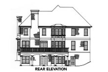 Tudor Exterior - Rear Elevation Plan #429-14
