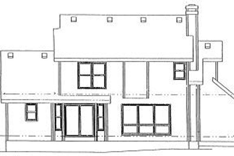 Traditional Exterior - Rear Elevation Plan #20-623 - Houseplans.com