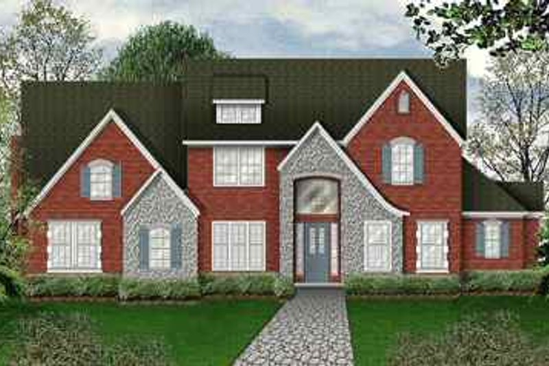 European Exterior - Front Elevation Plan #84-153