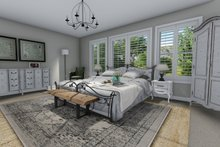 House Design - Traditional Interior - Master Bedroom Plan #1060-37