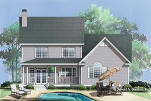Dream House Plan - Country Exterior - Rear Elevation Plan #929-596