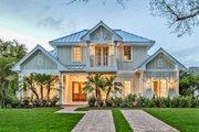 Beach Style House Plan - 5 Beds 7 Baths 4630 Sq/Ft Plan #27-486