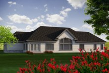 Dream House Plan - Ranch Exterior - Rear Elevation Plan #70-1177