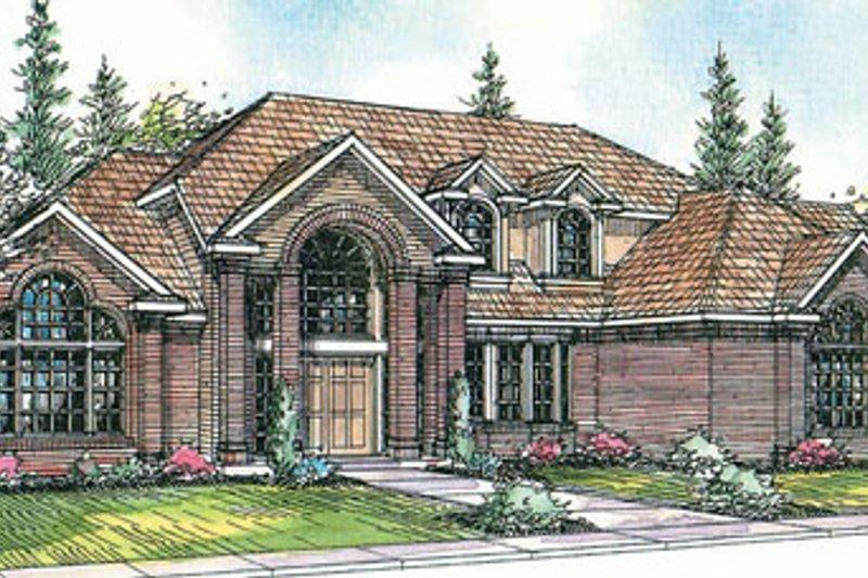 Home Plan - European Exterior - Front Elevation Plan #124-319