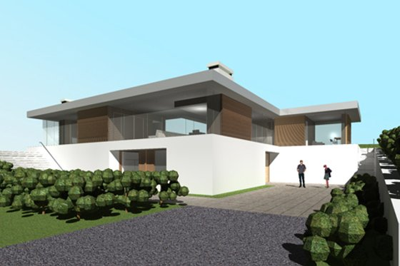 Modern Exterior - Front Elevation Plan #520-5