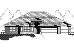 Traditional Exterior - Front Elevation Plan #24-200