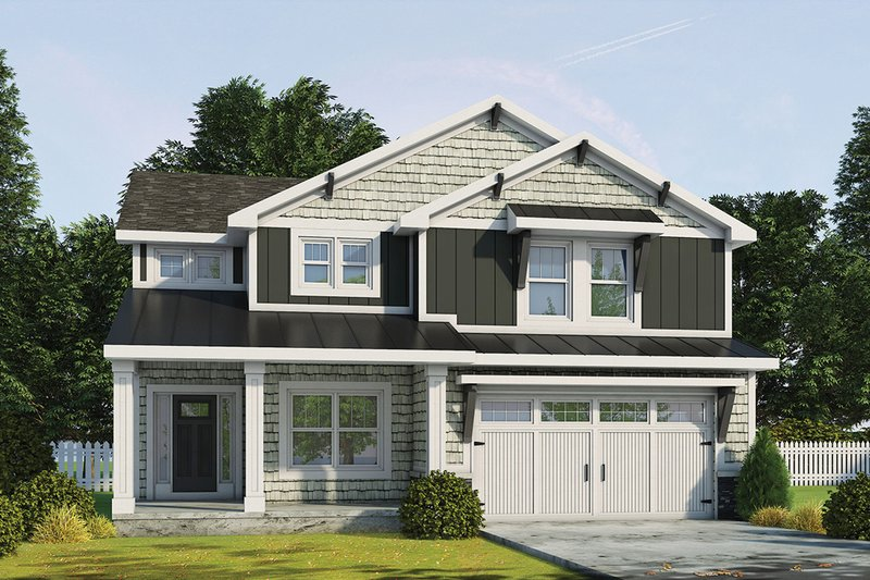 Dream House Plan - Craftsman Exterior - Front Elevation Plan #20-2343