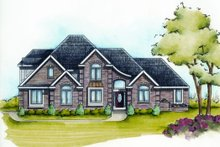 Home Plan - European Exterior - Front Elevation Plan #20-2117