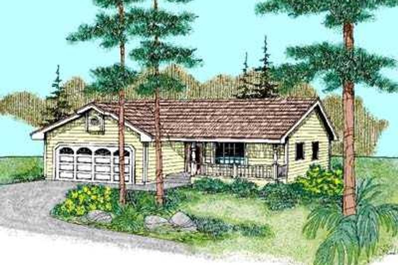Ranch Exterior - Front Elevation Plan #60-494